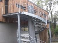 Escalier hélicoïdale et coursive métallique