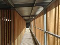Structure métallique brise soleil support lames bois