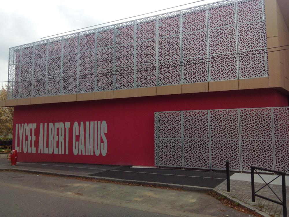 Habillage de façade en tôle aluminium laser
